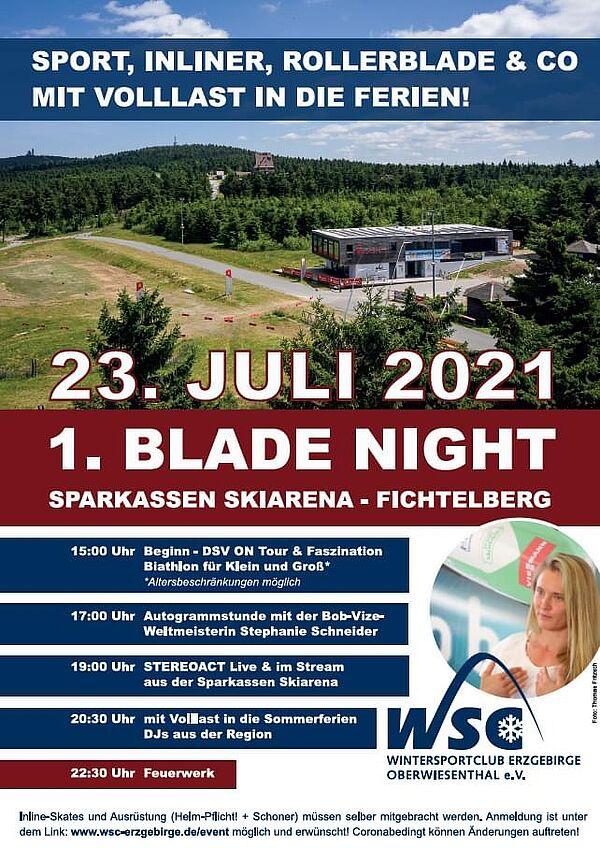 Blade-Night am Fichtelberg